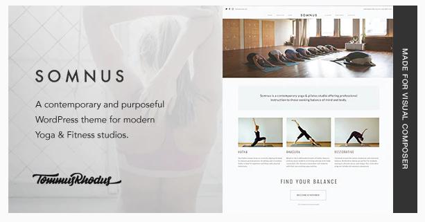 瑜伽健身类主题WP–纯净版