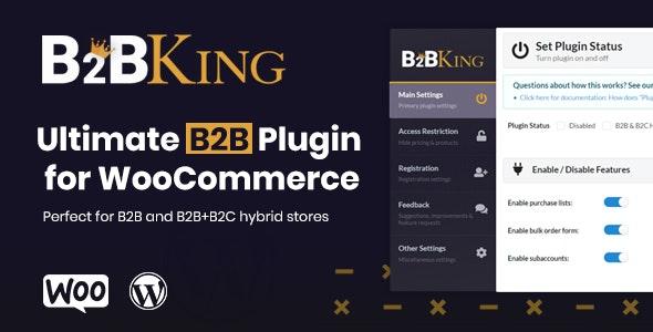 B2BKing 2.3.0 –终极WooCommerce B2B和批发插件