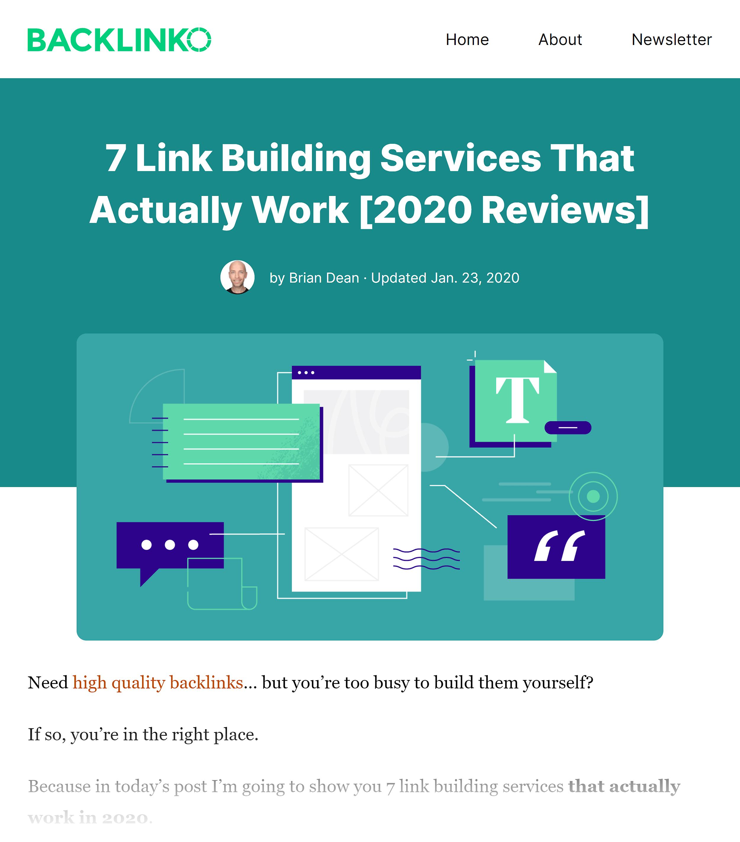 Backlinko – 链接建设服务帖子