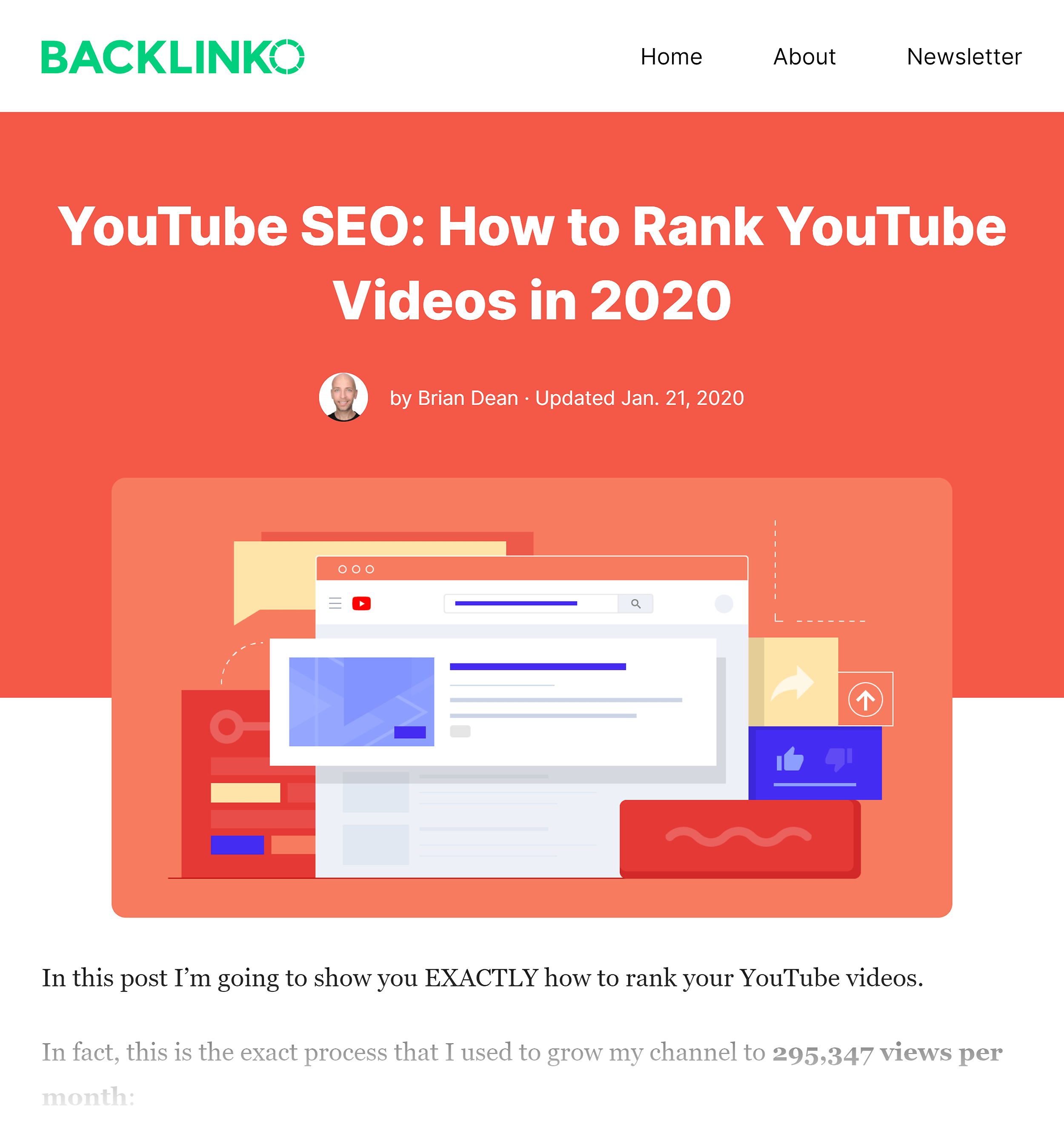 Backlinko – 如何对 YouTube 视频帖子进行排名