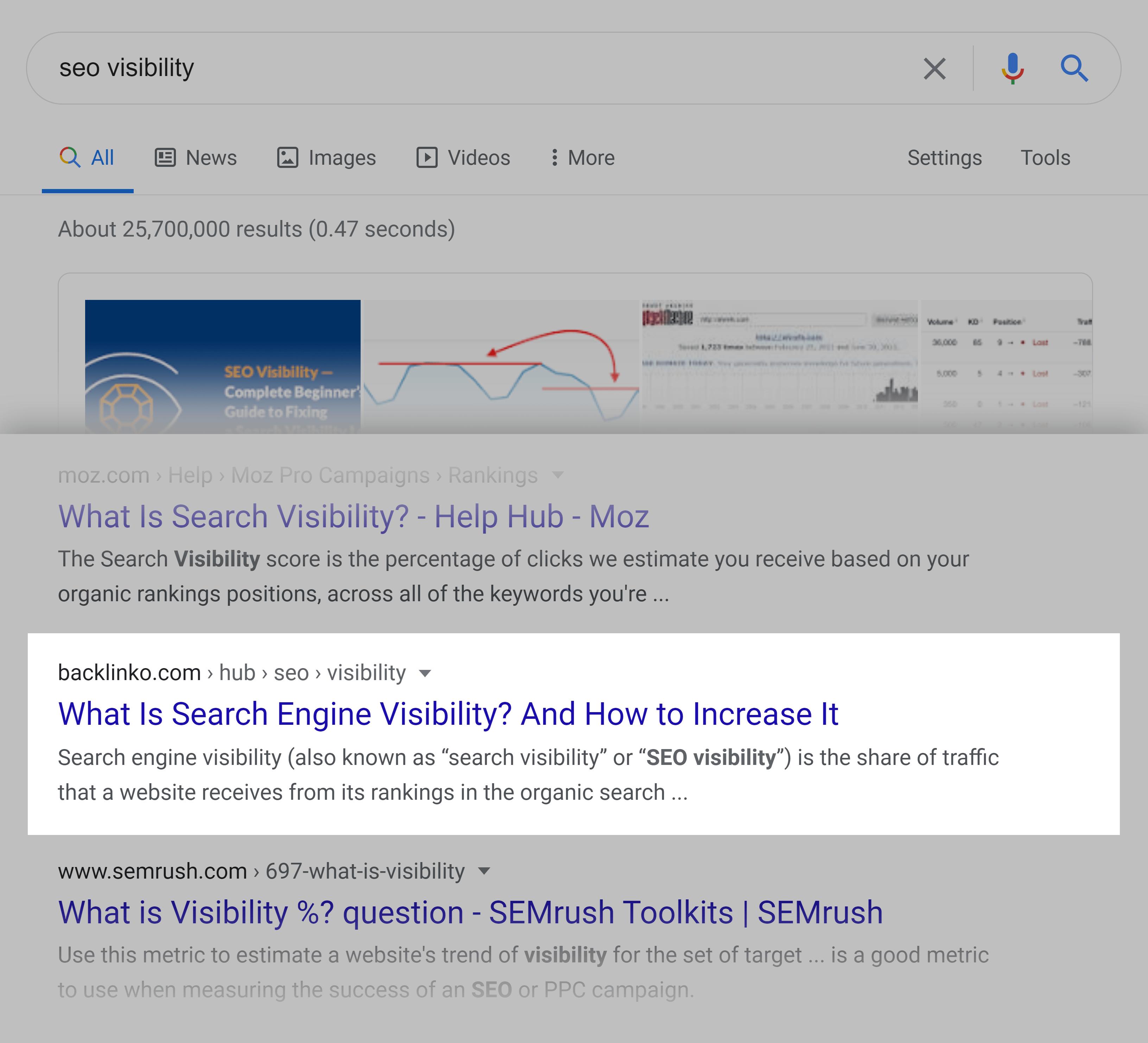 Google SERP – SEO 可见性