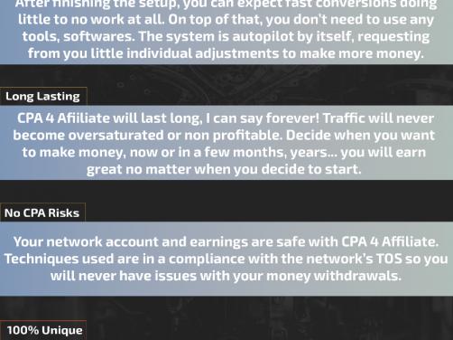 CPA 4 Affiliate – 聪明的 CPA 方法,每天赚 500 美元