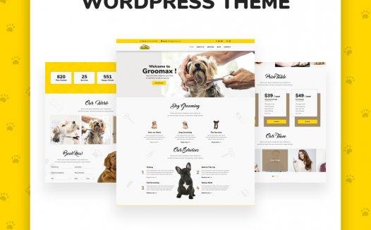 Groomax –宠物美容和商店WordPress主题1.2