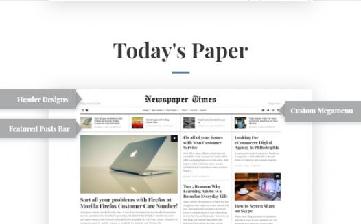 推荐主题–Newspaper (大森林),做博客,做媒体