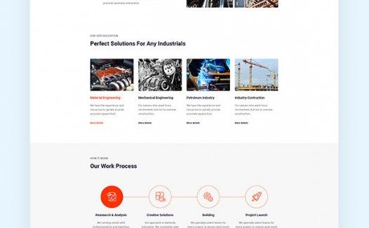 适合工业的WP主题- Industro – Industry & Factory WordPress Theme 1.0.6.4