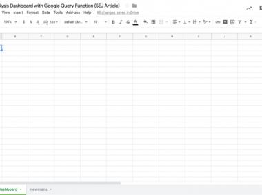 如何使用 Google 表格中的 Google 查询功能构建链接分析仪表板 [免费模板]